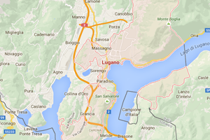 Lugano map